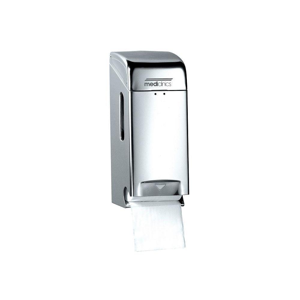 Mediclinics toiletrolhouder (2 rollen) RVS hoogglans PRO784C