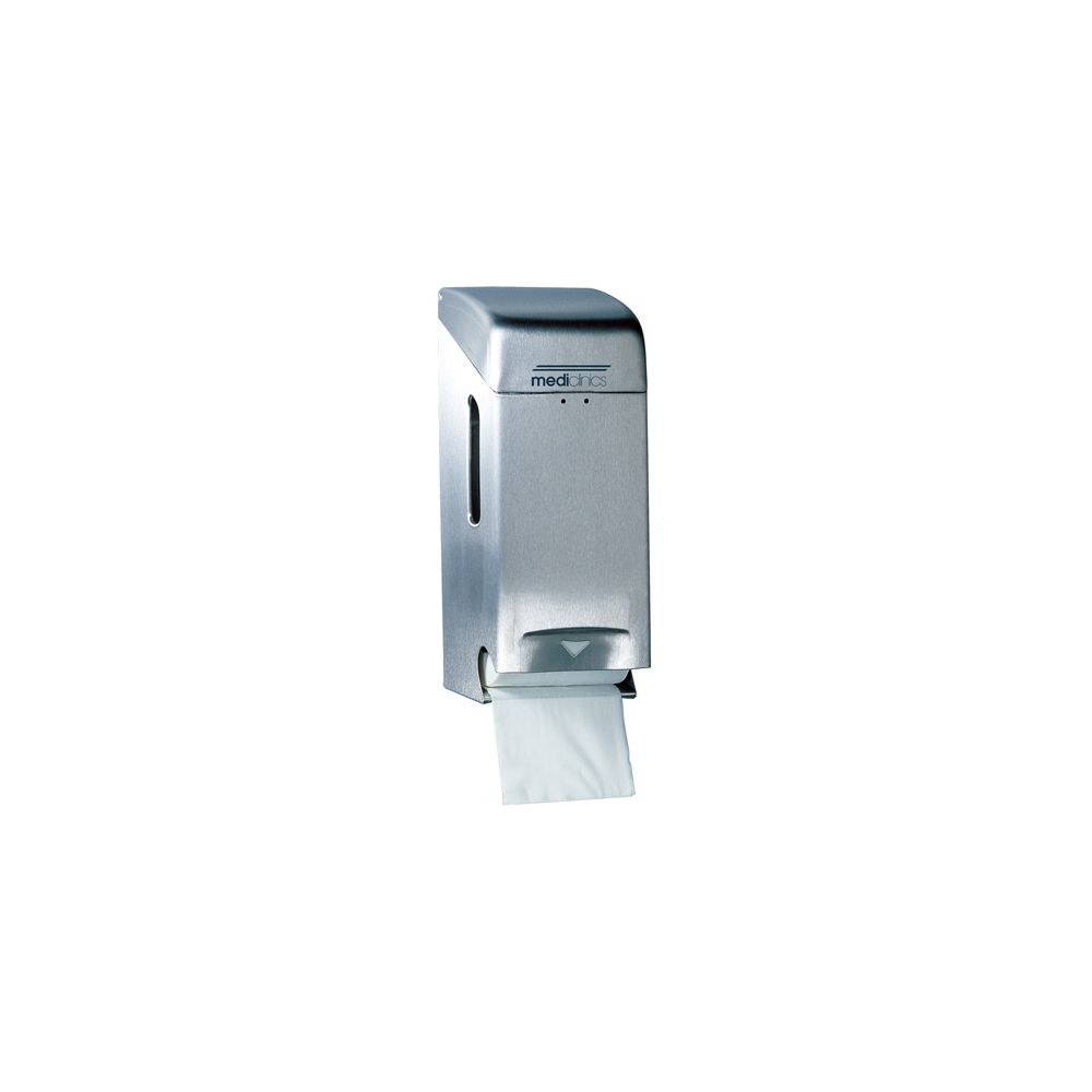 Mediclinics toiletrolhouder (2 rollen) RVS PRO784CS