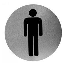 Mediclinics pictogram man zelfklevend rond RVS PS0003CS