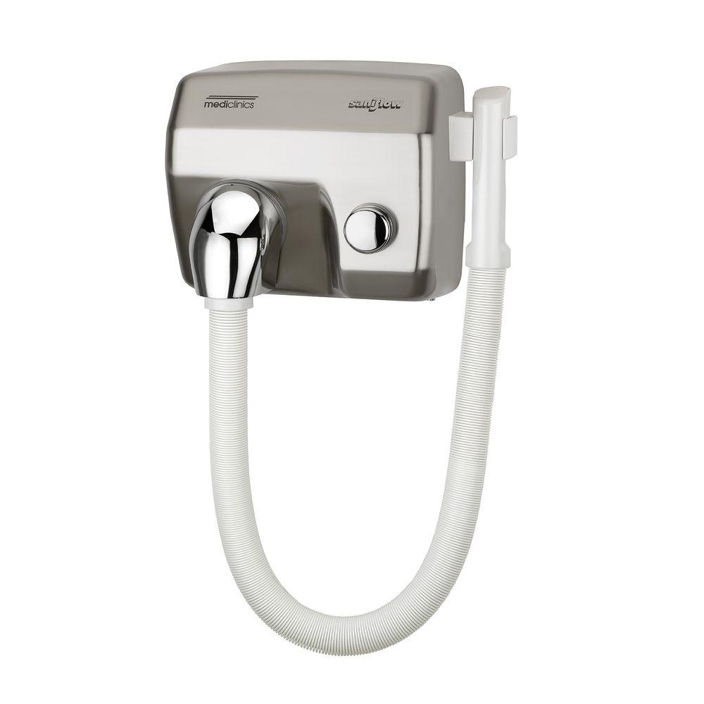 Mediclinics haardroger drukknop RVS look met slang SC1088HTCS