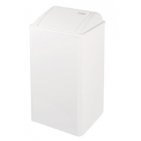 Mediclinics afvalbak gesloten wit 65l. PP0065
